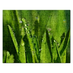 Grass Drops Jigsaw Puzzle (rectangle)