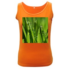 Grass Drops Womens  Tank Top (Dark Colored)