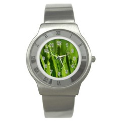 Grass Drops Stainless Steel Watch (Slim)