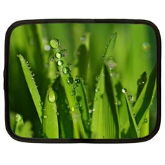 Grass Drops Netbook Sleeve (large)