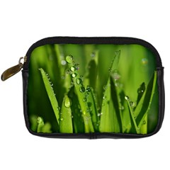 Grass Drops Digital Camera Leather Case