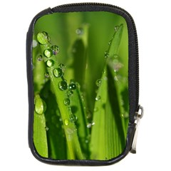 Grass Drops Compact Camera Leather Case