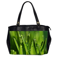 Grass Drops Oversize Office Handbag (Two Sides)
