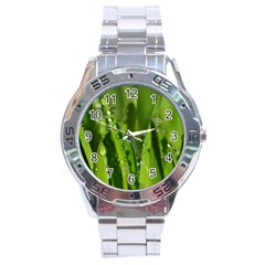 Grass Drops Stainless Steel Watch