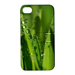 Grass Drops Apple iPhone 4/4S Hardshell Case with Stand