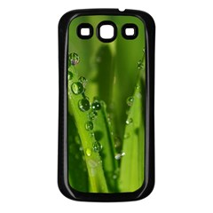 Grass Drops Samsung Galaxy S3 Back Case (Black)