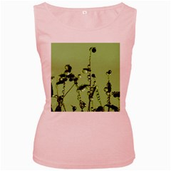 Mint Drops  Womens  Tank Top (pink)