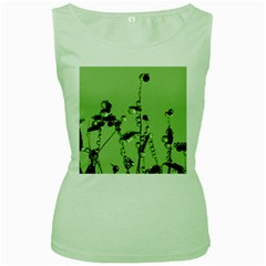 Mint Drops  Womens  Tank Top (Green)