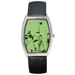 Mint Drops  Tonneau Leather Watch