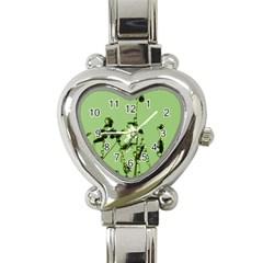Mint Drops  Heart Italian Charm Watch
