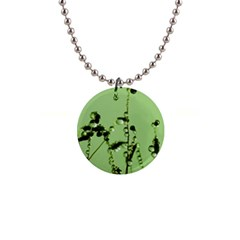 Mint Drops  Button Necklace