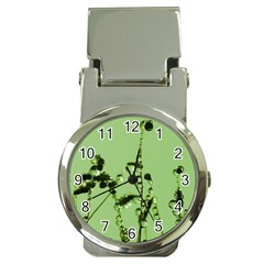 Mint Drops  Money Clip With Watch