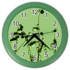 Mint Drops  Wall Clock (Color)