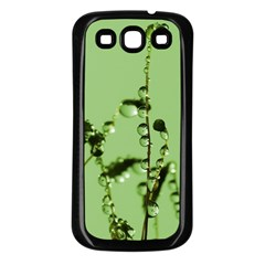 Mint Drops  Samsung Galaxy S3 Back Case (Black)