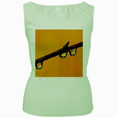 Tree Drops  Womens  Tank Top (Green)