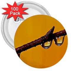 Tree Drops  3  Button (100 pack)