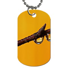 Tree Drops  Dog Tag (Two-sided)