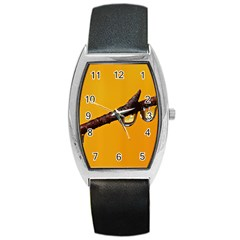 Tree Drops  Tonneau Leather Watch