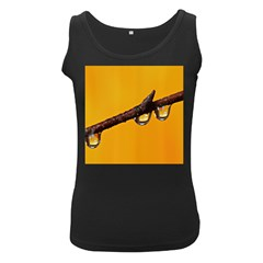 Tree Drops  Womens  Tank Top (Black)