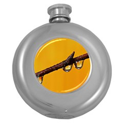 Tree Drops  Hip Flask (round)