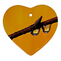 Tree Drops  Heart Ornament (Two Sides)