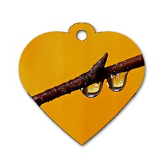 Tree Drops  Dog Tag Heart (One Sided)