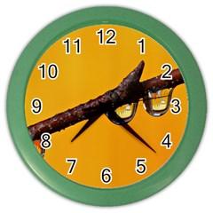 Tree Drops  Wall Clock (Color)