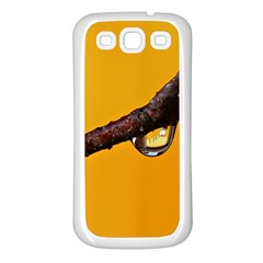 Tree Drops  Samsung Galaxy S3 Back Case (White)