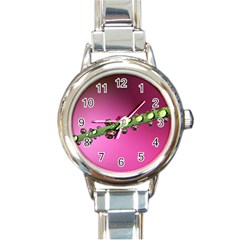Drops Round Italian Charm Watch