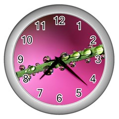 Drops Wall Clock (Silver)