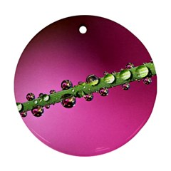 Drops Round Ornament (two Sides)