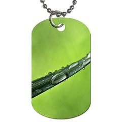 Green Drops Dog Tag (One Sided)