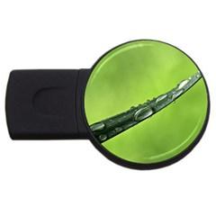 Green Drops 1GB USB Flash Drive (Round)