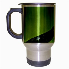 Green Drops Travel Mug (Silver Gray)