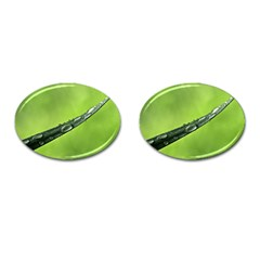 Green Drops Cufflinks (oval)