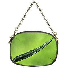 Green Drops Chain Purse (one Side)