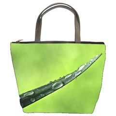 Green Drops Bucket Handbag