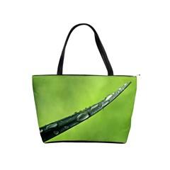 Green Drops Large Shoulder Bag