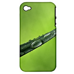 Green Drops Apple Iphone 4/4s Hardshell Case (pc+silicone)