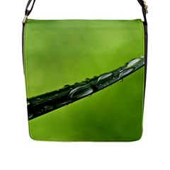 Green Drops Flap Closure Messenger Bag (Large)