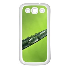 Green Drops Samsung Galaxy S3 Back Case (white)