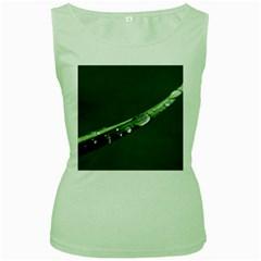 Grass Drops Womens  Tank Top (Green)