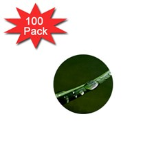 Grass Drops 1  Mini Button (100 Pack)