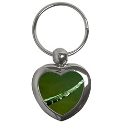 Grass Drops Key Chain (heart)