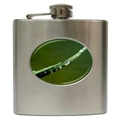 Grass Drops Hip Flask