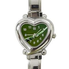 Grass Drops Heart Italian Charm Watch