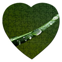 Grass Drops Jigsaw Puzzle (heart)