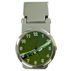 Grass Drops Money Clip With Watch