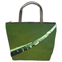 Grass Drops Bucket Handbag