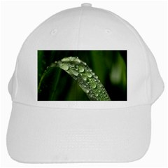 Grass Drops White Baseball Cap